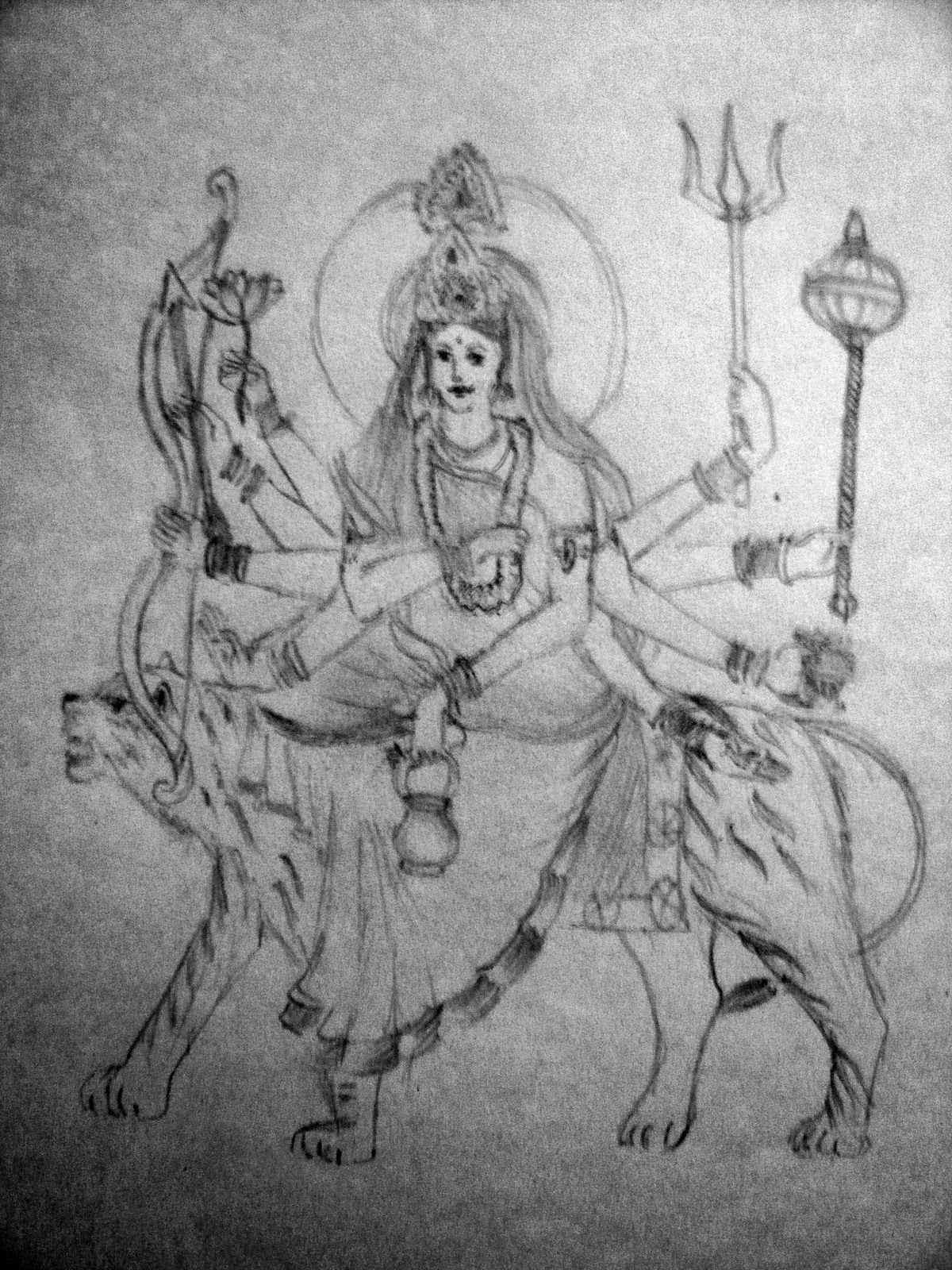 how to draw a khanda