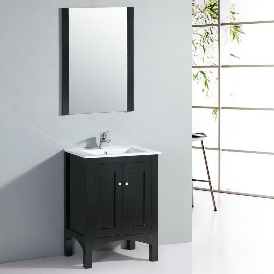 Shop Yosemite Home Decor 24 In Black Transitional Single Sink Bathroom Vanity With Top At Lowes Com Unique Bathroom Vanity Bathroom Vanity Yosemite Home Decor