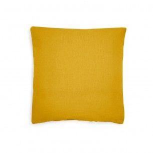 80x80 Kissenbezug Gelb Leinenbettwasche Kissenbezuge