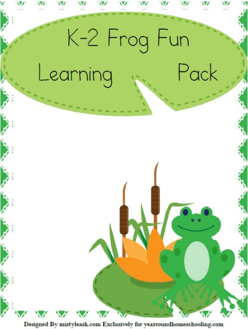 Free K-2 Frog Learning Pack