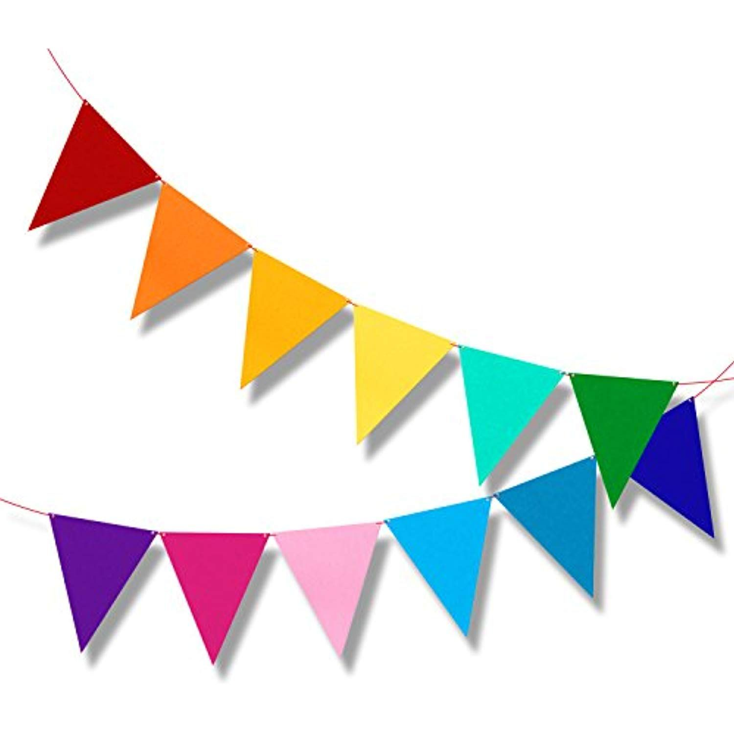 Multicolor Bunting Pennant Flag Banner For Kids Birthday Party Decorations 6 5ft Cl Birthday Flags Birthday Party Decorations Kids Birthday Party Decoration