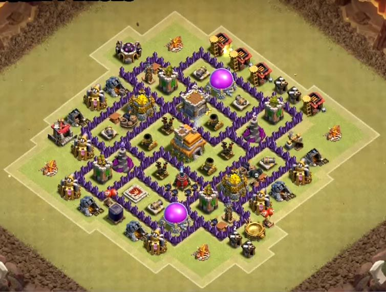 12 Best Th7 War Base Anti Dragons 2020 New Clash Of Clans Levels Clash Of Clans Clash Of Clans Game