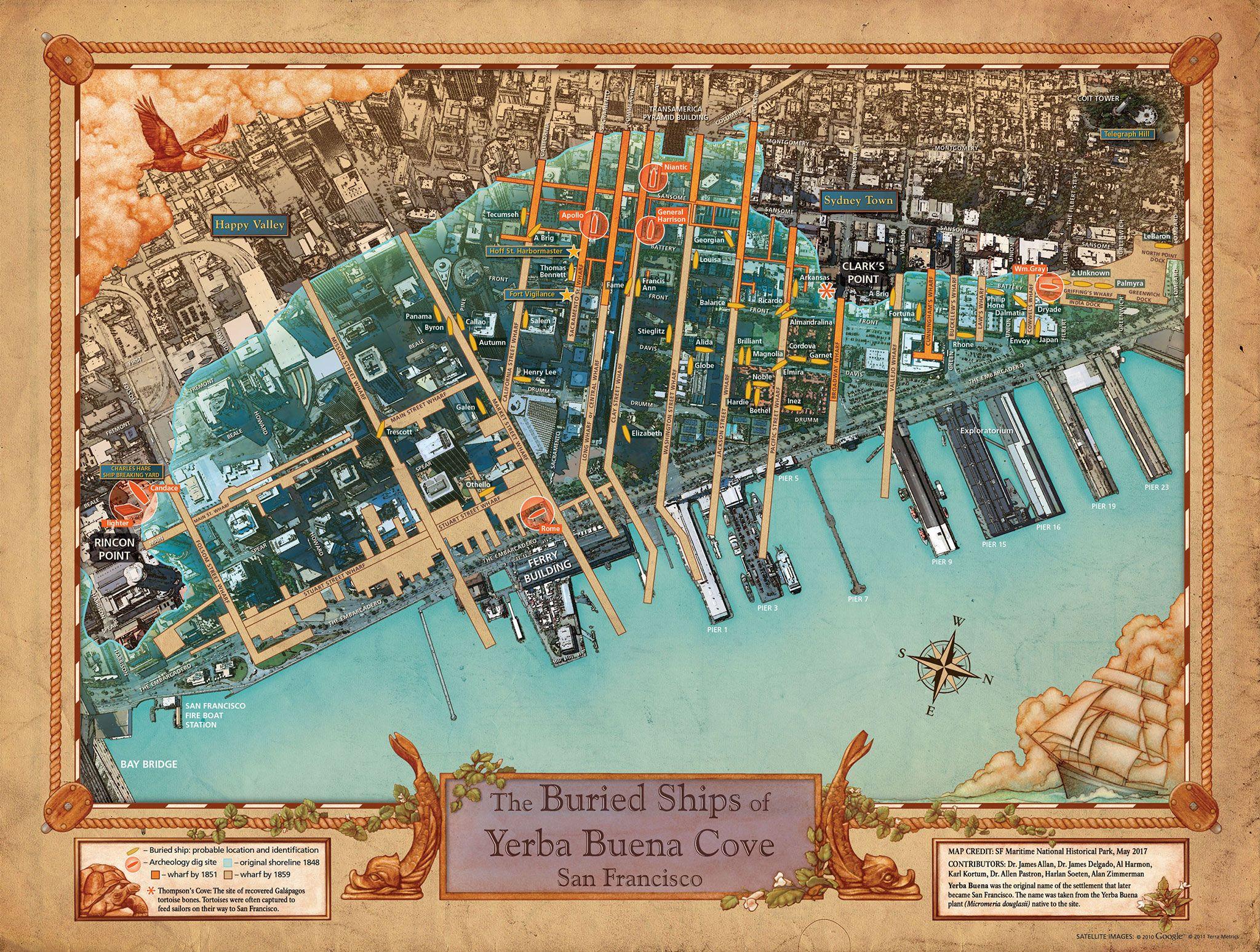 New Map Reveals Ships Buried Below San Francisco Bury San