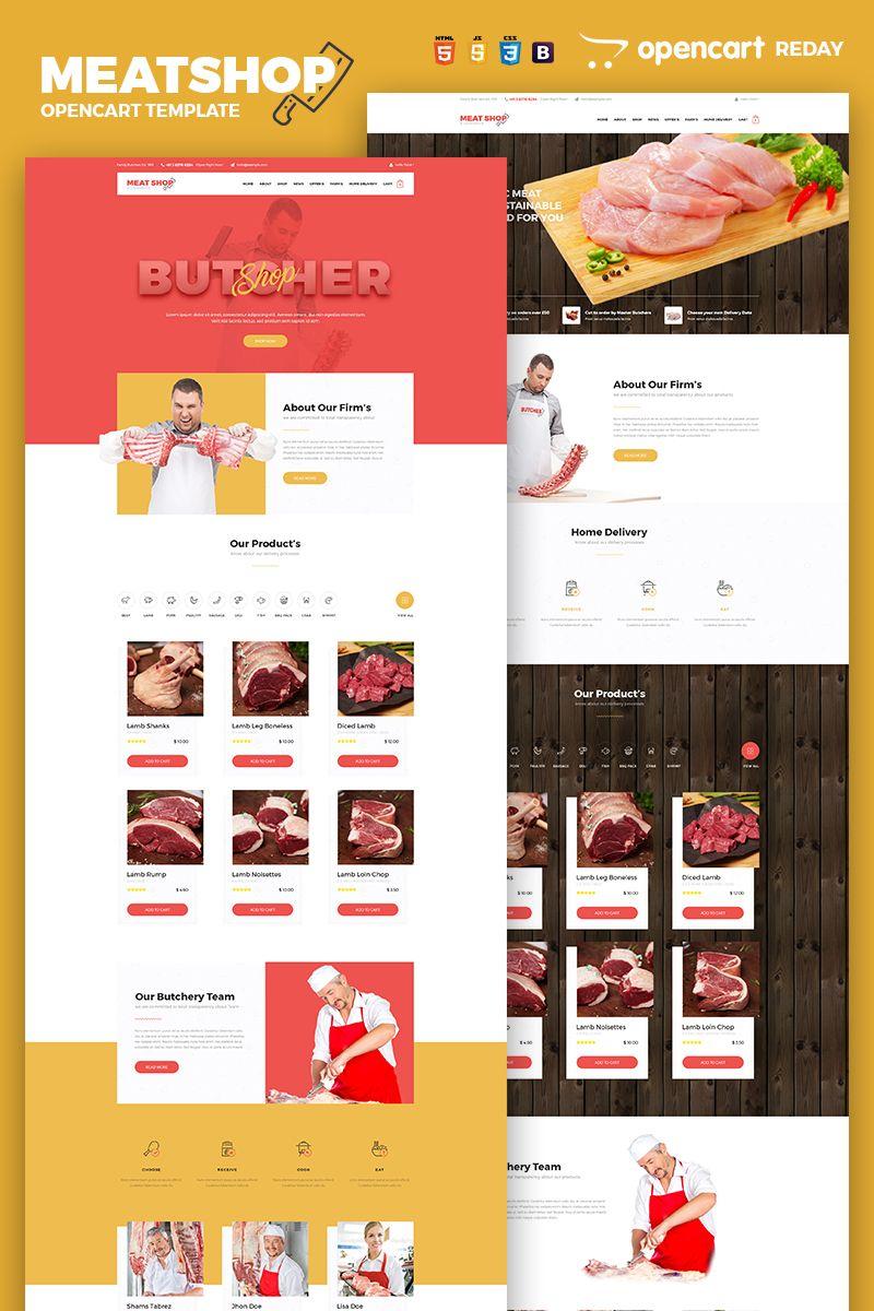 Butcher Meat Shop Ecommerce Opencart Template 65752 Meat Shop