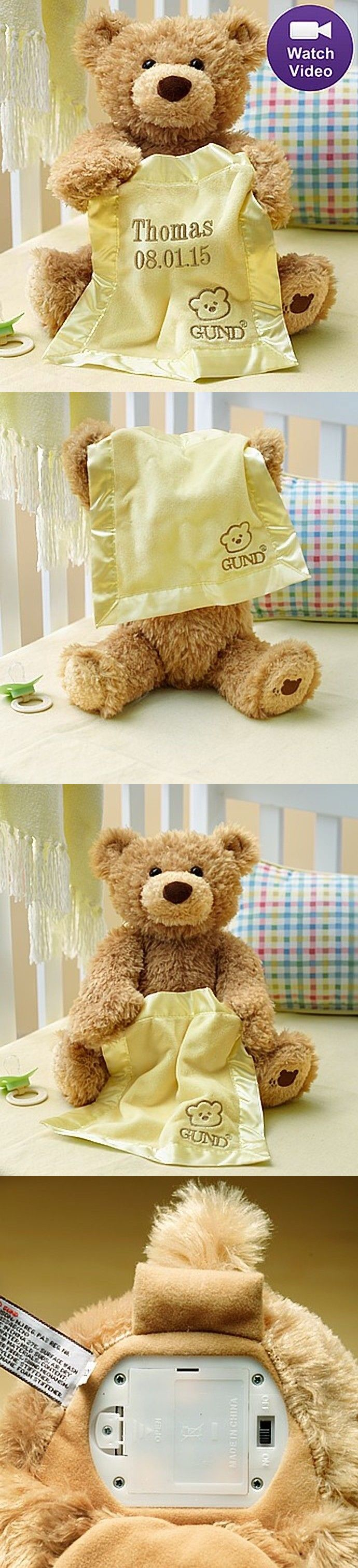 035317fe46a Plush Baby Toys 131084  Personalized Gund® Peek A Boo Bear