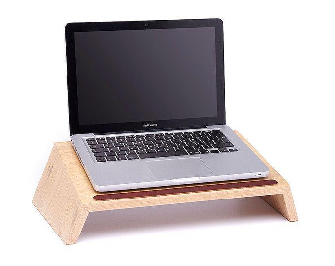 Support en bois pour ordinateur portable petit chêne projet