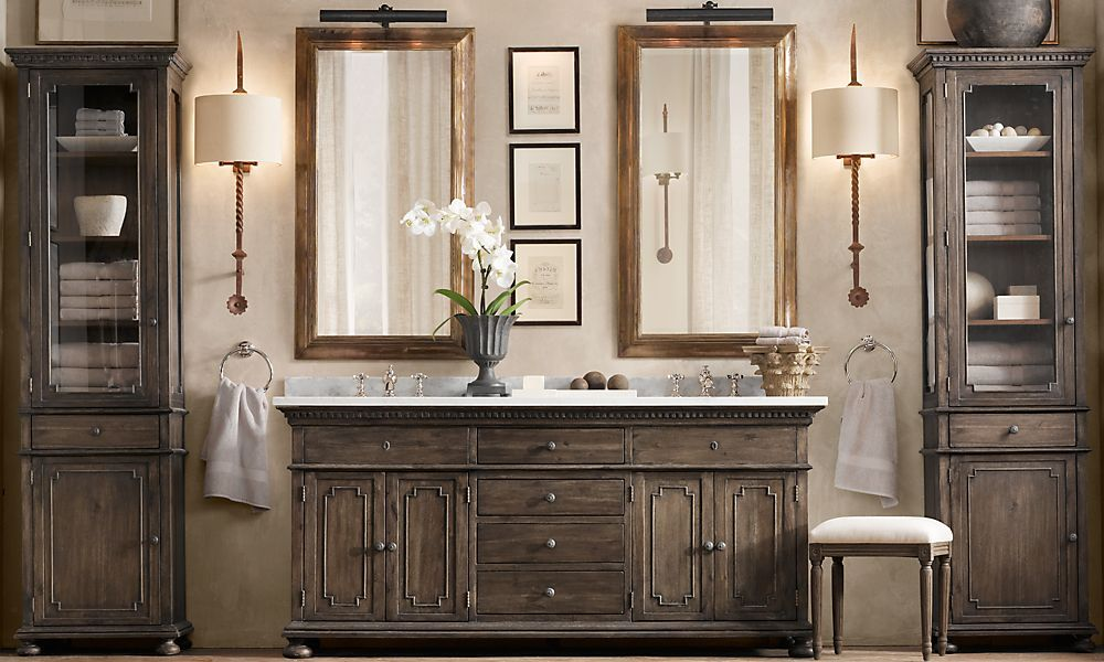 Rustic Chic Bathroom From Restoration Hardware Restoration Hardware Bathroom Vanity Restoration Hardware Bathroom Bathroom Restoration