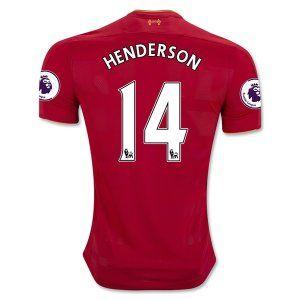 Liverpool 16-17 Cheap Home Soccer Shirt #14 HENDERSON [E399]