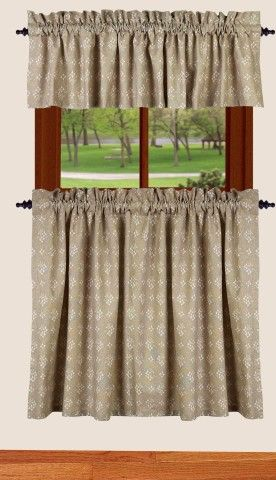 Emily S Fl 36 Inch Tier Curtains Cotton Lined So Cute For Country Kitchen Or Bathroom Style Best Window Treatments