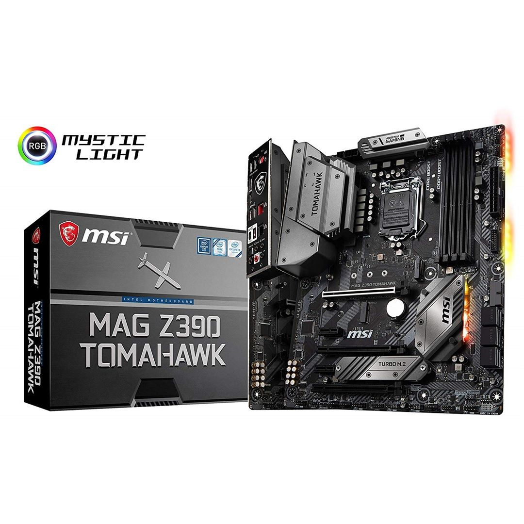 MSI MAG Z390 TOMAHAWK Motherboard, Military style, Dual LAN