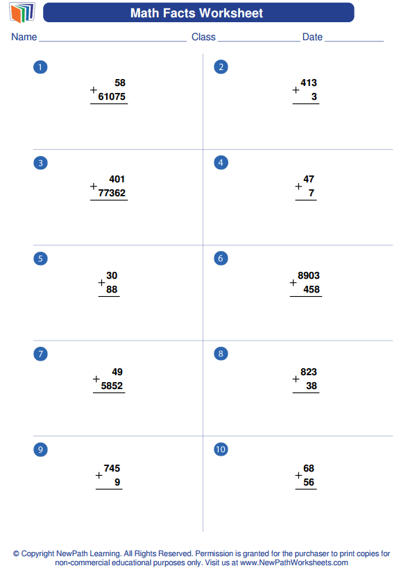 Check Out Our Downloadable Newpath Math Worksheet Generator About