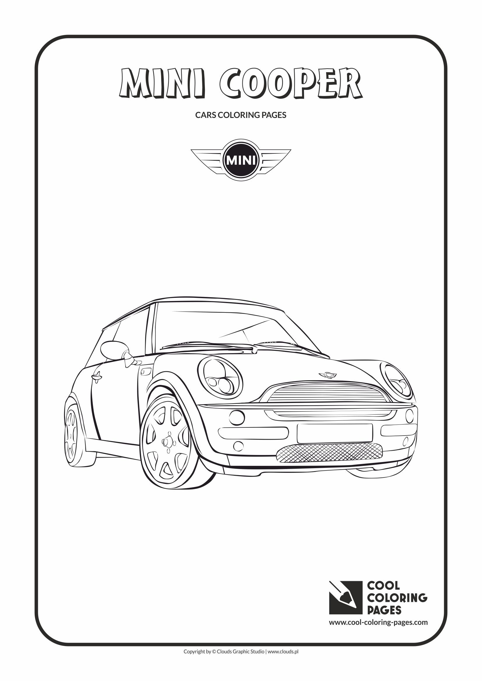 Cool Coloring Pages - Vehicles / Mini Cooper / Coloring page with ...
