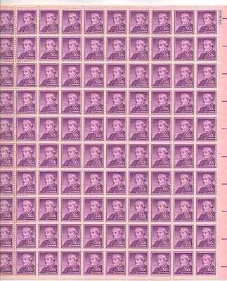 Susan B Anthony Sheet Of 100 X 50 Cent US Postage Stamps NEW 56999