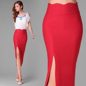 1facf9451 Faldas de moda 2017 » Faldas en corte de lápiz largas 1 | Faldas en ...