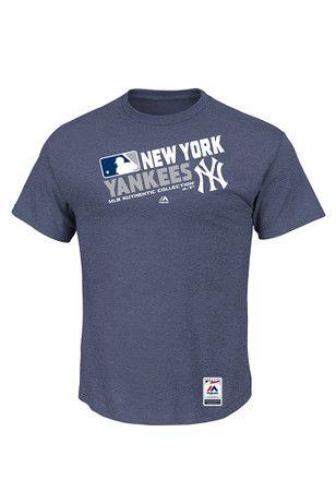 Majestic Ny Yankees Mens Grey Team Choice Tee New York Yankees Apparel Cleveland Indians Atlanta Braves