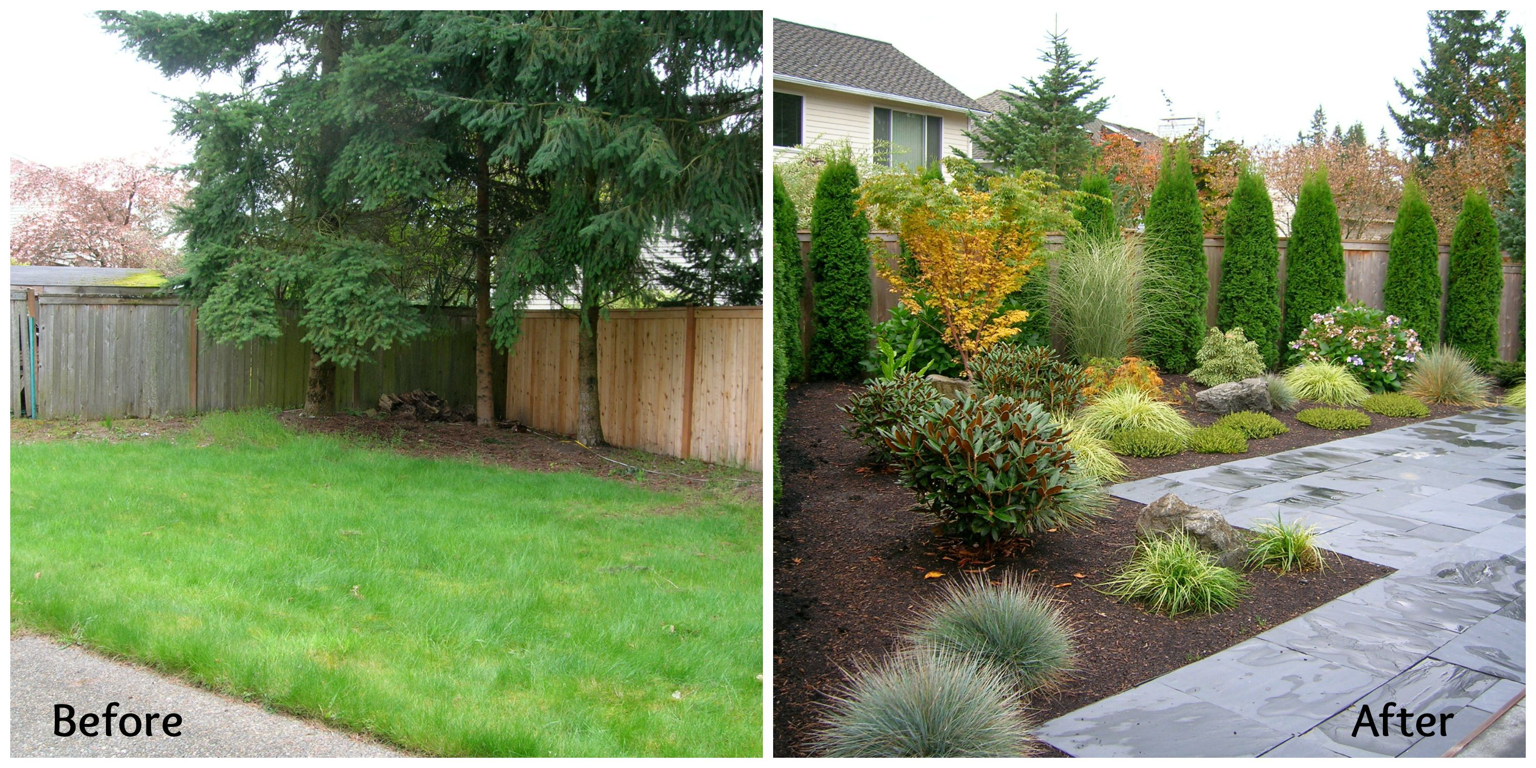 Great beforeafter from Spirit Garden Design based in Seattle