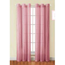 Sierra-Crushed Grommet Curtain Panel