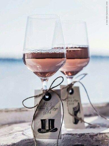 På glasen