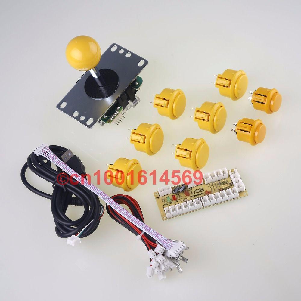 6 X SANWA Buttons & 2 X Reyann Arcade Buttons + Sanwa JLF-TP