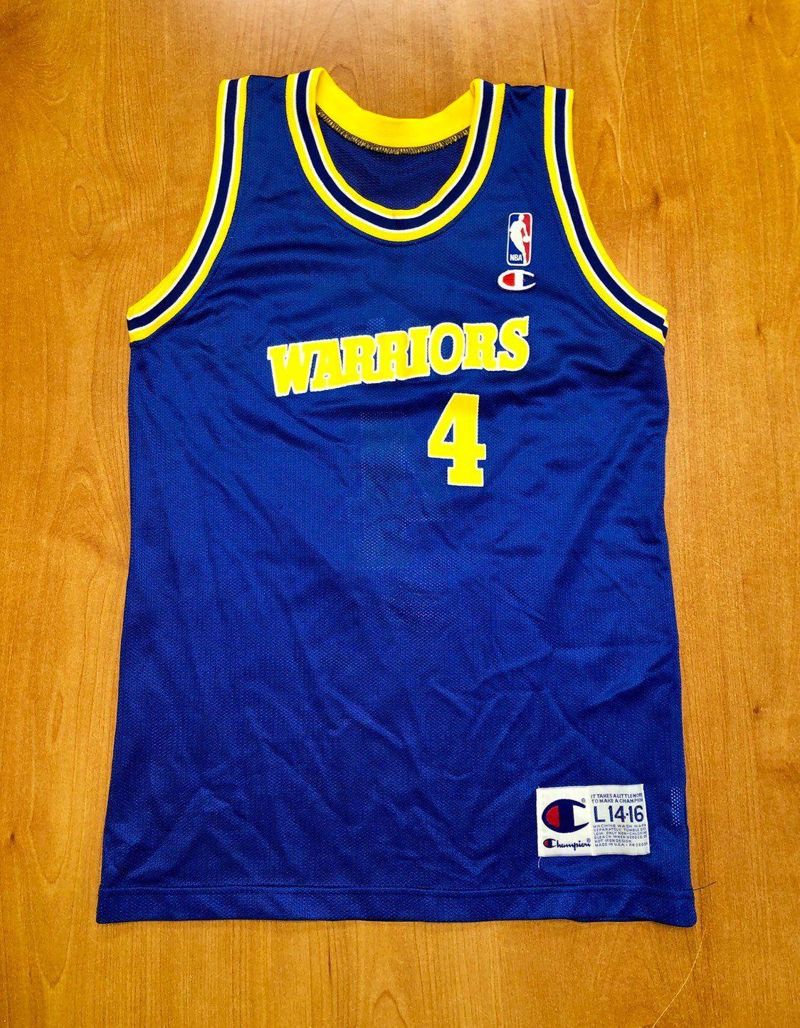 70f0e7d8 Vintage 1993 - 1994 Chris Webber Golden State Warriors Champion Jersey Size  Youth Large mitch richmond stephen jackson jason richardson kids by ...