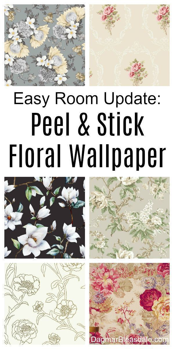 Change A Room With A Simple Trick Stunning Floral Wallpaper Self Adhesive So It S Super Easy To Add To The Wall Floral Wallpaper Shabby Chic Decor Wallpaper