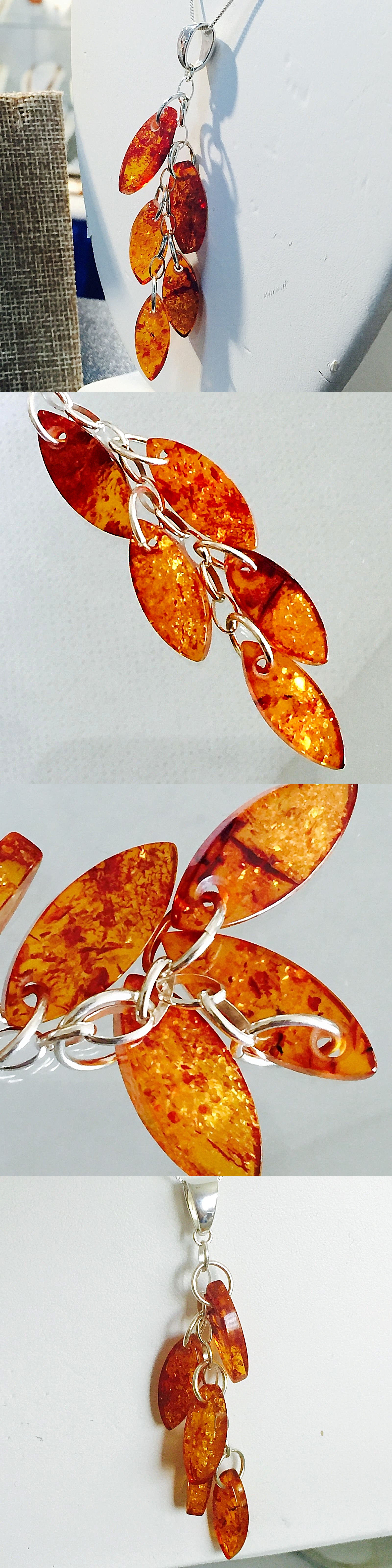 Amber 10191: 100% Genuine Vintage Russian Baltic Amber Butterscotch Egg Yolk Necklace Polish -> BUY IT NOW ONLY: $38.95 on eBay!