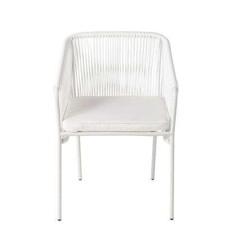 White Garden Armchair Maisons Du Monde Dining Room Bench Seating Balcony Furniture Furniture