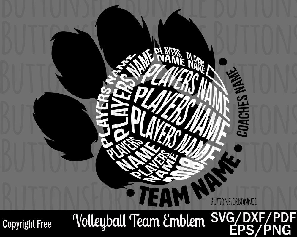 Volleyball Svg Volleyball Team Svg Back Of Shirt Svg Team Etsy Volleyball Shirt Designs Volleyball Team Volleyball Tshirt Designs