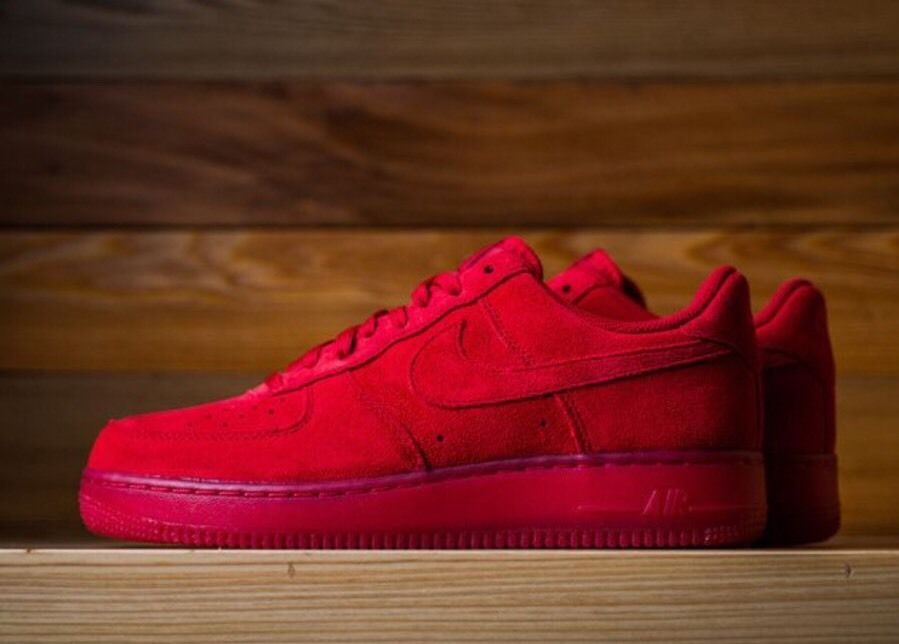 nike air force 1 07 suede red shoes