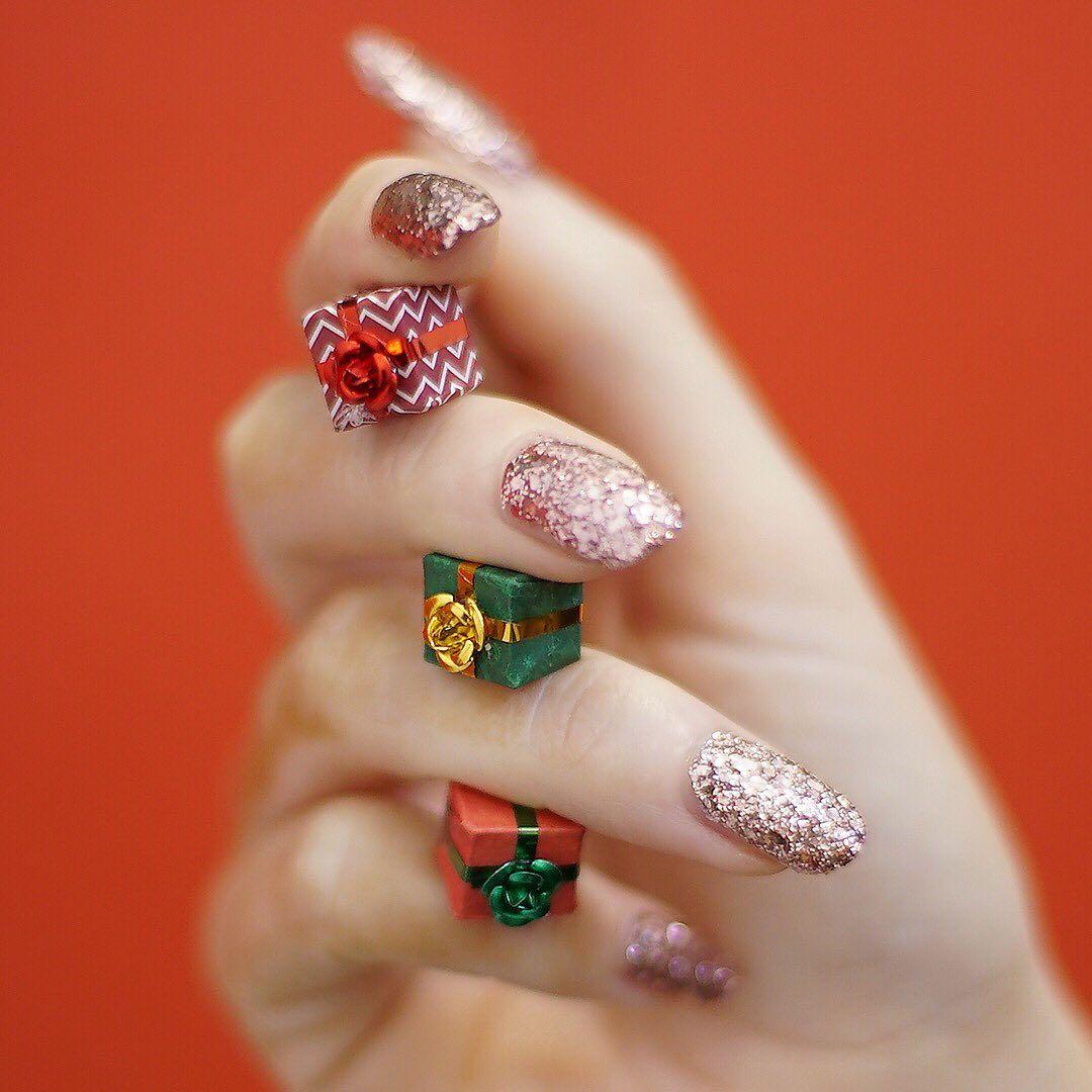 Mylee S Mani Little Christmas Copper Shine Remove Gel Polish Glitter Gel Nails Gel Polish