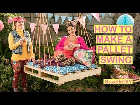 How to make a Pallet Swing - YouTube (With images ...