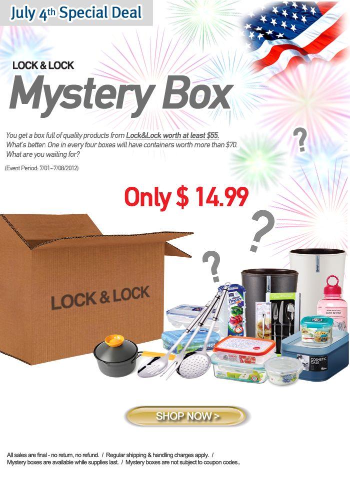 Back by popular demand ! Mystery Box by Lock & Lock