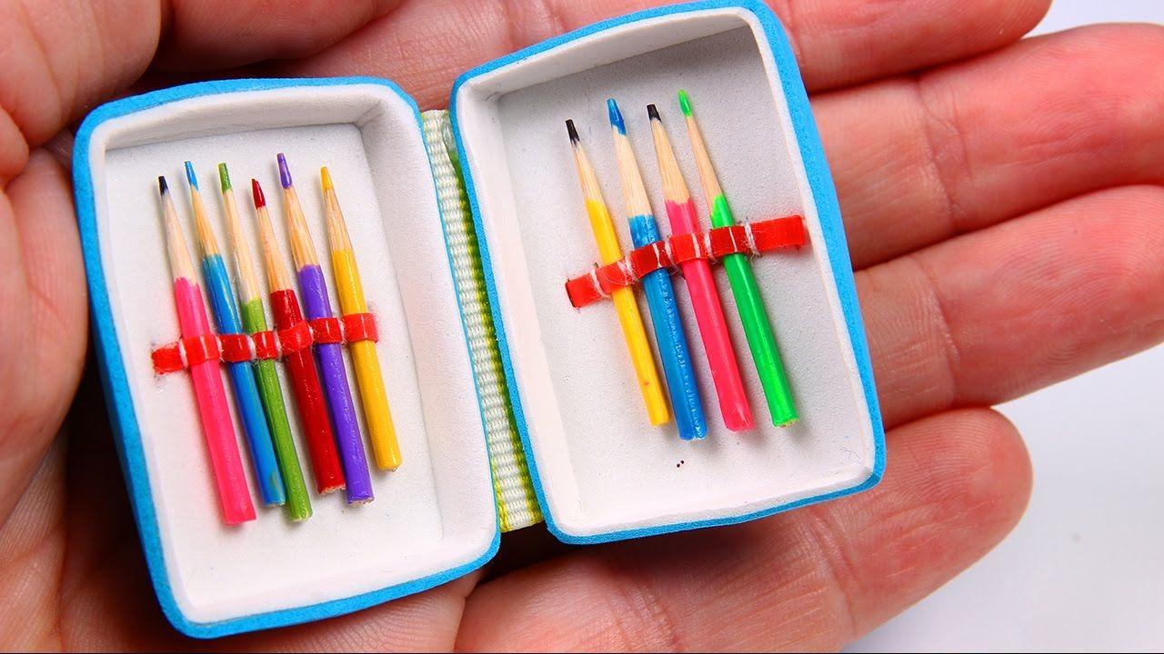 Diy miniature pencil case colored pencils diy pencil