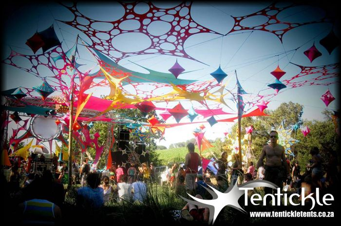 Beautiful Decoration At The Vortex Outdoor Music Festival