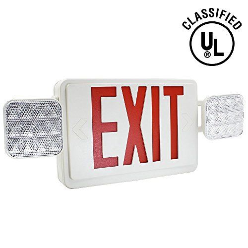 TORCHSTAR ALL LED Dual Single Face Combo EXIT Sign and Emergency - exit letter