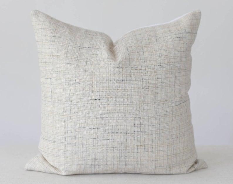 neutral high end pillow cover 20x20 tan