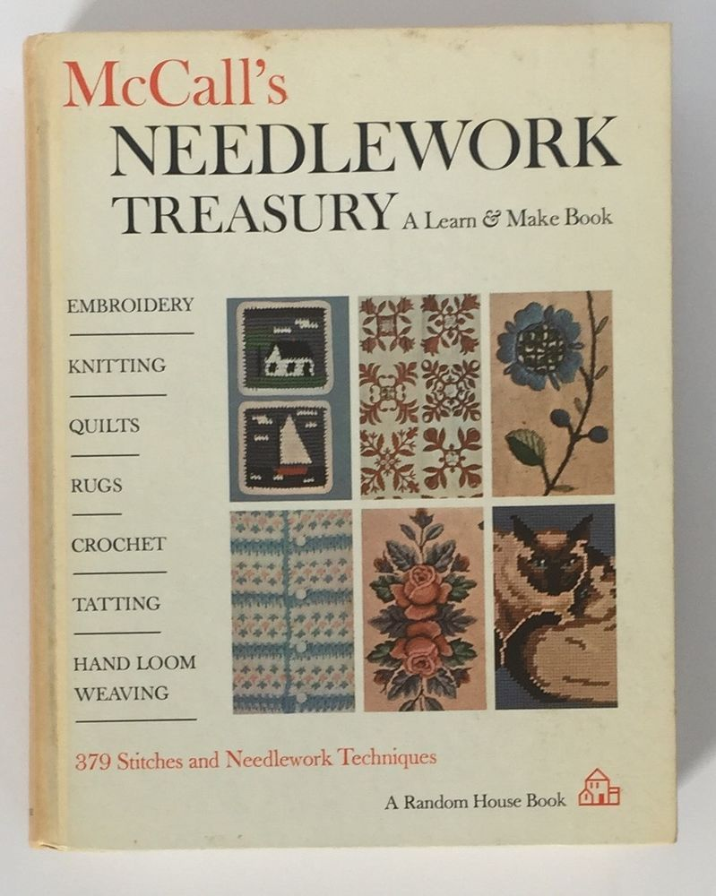 Vintage McCalls Needlework Treasury A Learn and Make Book 1964 Hardcover Crafts
