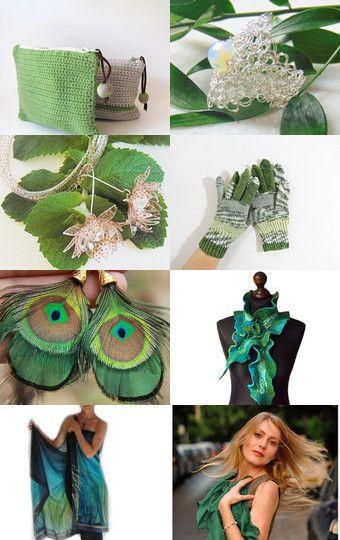 Green Mood by Sarmite on Etsy--Pinned+with+TreasuryPin.com
