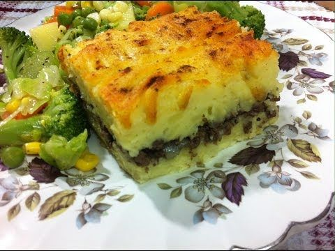 طريقة عمل بطاطس بيوريه بالعصاج How To Make Shepherd S Pie Egyptian Food Food Arabic Food