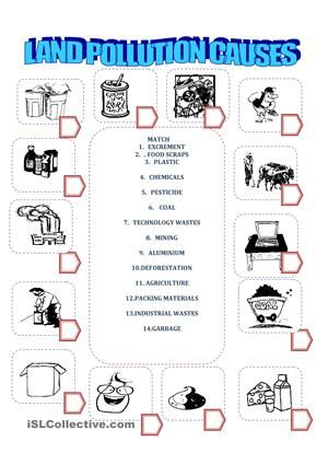 land pollution my worksheets pinterest worksheets teacher and activities. Black Bedroom Furniture Sets. Home Design Ideas