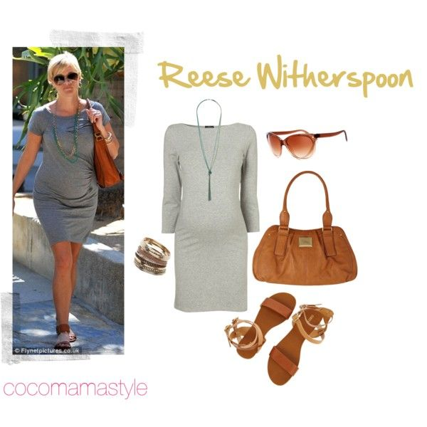 Bump Watch Reese Witherspoon Grey Long Sleeve Dress