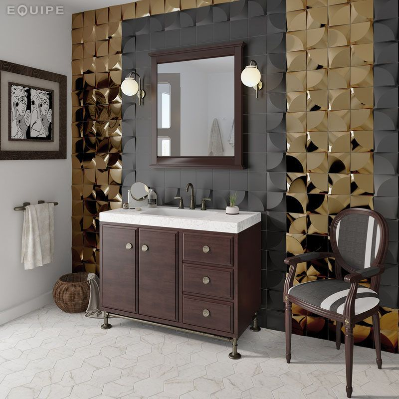 Bathroom Tile Ideas   Install 3D Tiles To Add Texture To Your Bathroom //  The Part 98