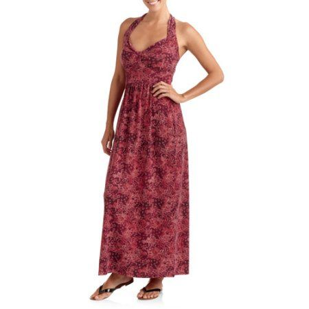 ca990be1179 Faded Glory Women s Halter Maxi Dress