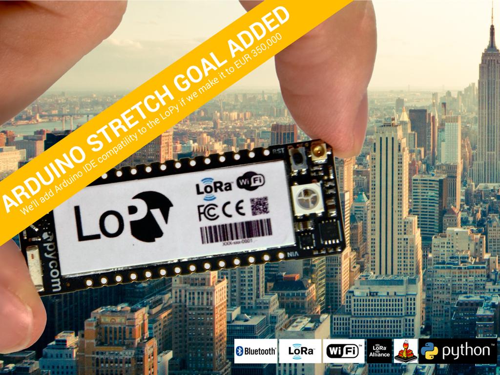 LoPy – the LoRa, WiFi and Bluetooth IoT development platform