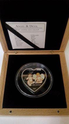 Монета-сердце Ангел и Дьявол тираж 2500 серебро | Ангел ...