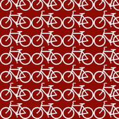 Nursery curtains... bicycle symbol red and white