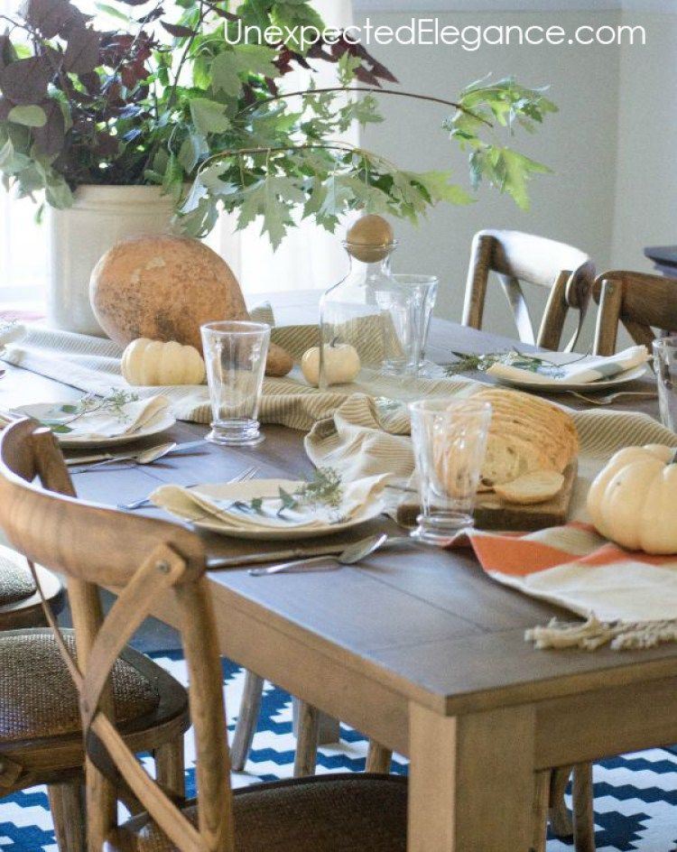 5 Inexpensive Ways To Decorate Your Fall Dining Room Decor Fall Dining Room Affordable Dining Room Table