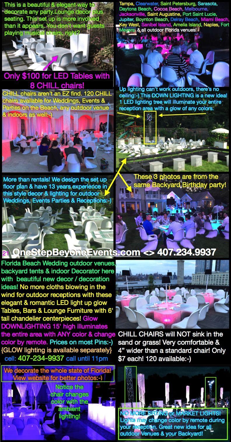 Jacksonville beach weddings  All Florida Beaches Wedding Decorator here Outdoor venues backyard