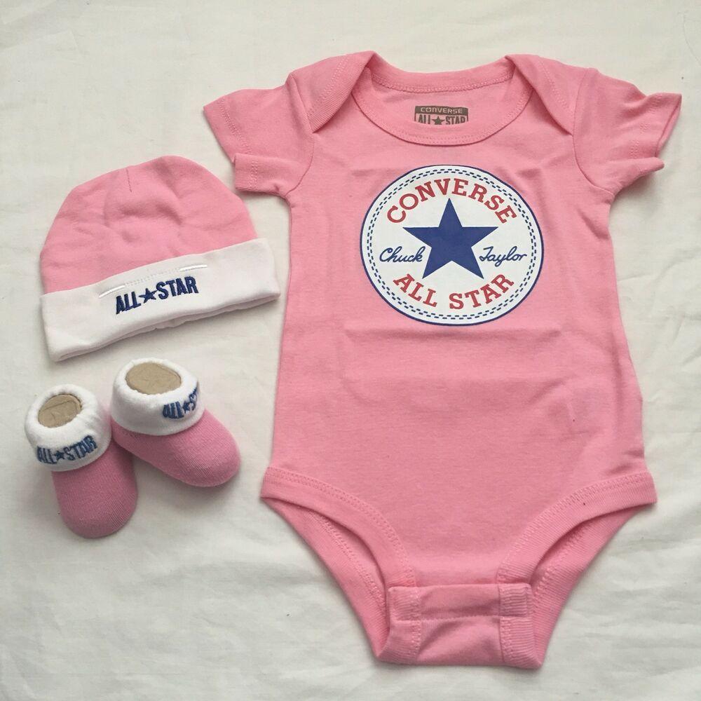 eb11088f8899 3 Piece Converse Baby Gift Set  Converse  chucktaylor  babygifts   babygiftideas  babygirlstyle  babybooties