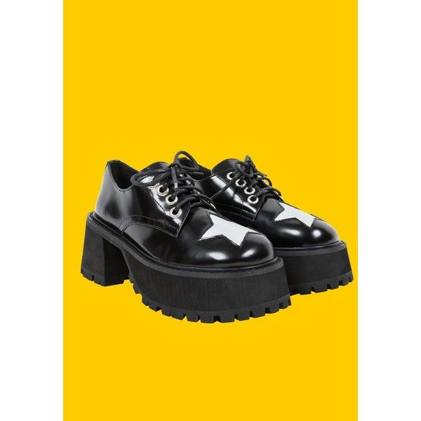 4c0d20e0549e UNIF Excuse Platform ❤ liked on Polyvore featuring shoes